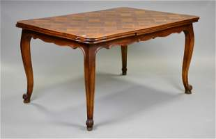 Country French Parquet Top Draw Leaf Table