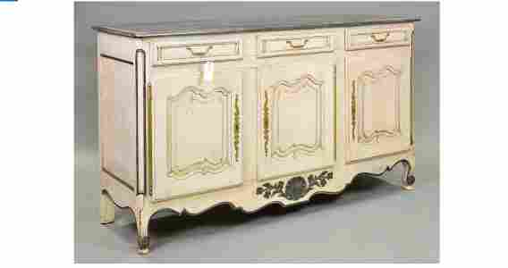 Painted French 3 Door Server / Sideboard