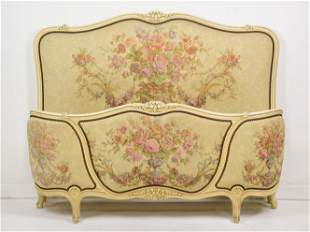 Painted French Upholstered Bed