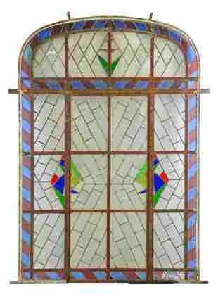 Large Multi Color Vitraux / Stained Glass Panel #1