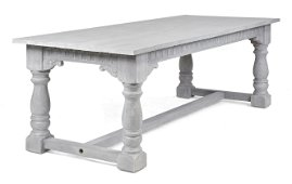 Painted Grey Double Baluster Table