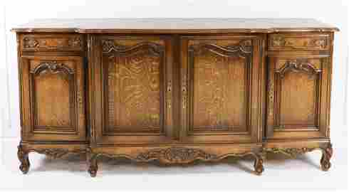 French Louis XV Style Sideboard - Parquet Top #2