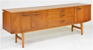 Long Mid Century Modern Teak Sideboard by Avalon
