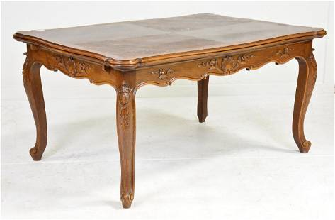Country French Draw Leaf Table