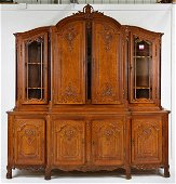 Large French Carved Oak Cupboard / Buffet