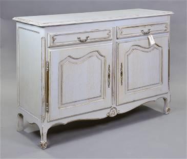 Louis XV Style Painted 2 Drawer 2 Door Server