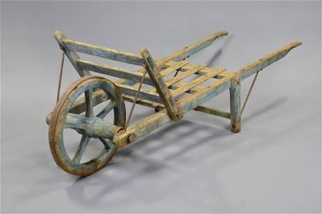 Large Painted Wheel Barrow