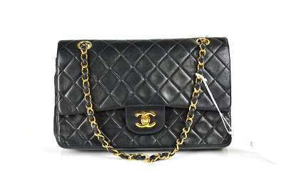 Chanel Quilted Calfskin Leather Classic Double Flap 26
