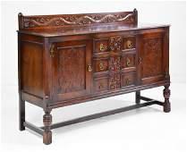 British Carved Oak Sideboard / Server