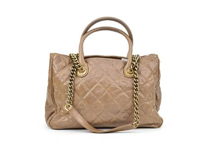 Chanel Vintage Chain Shopping Tote - Caviar Leather