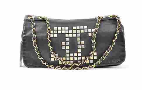 Chanel Front Logo Chain Flap - Small Grained Leather