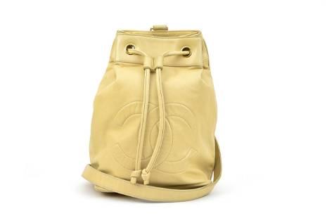 Chanel CC Drawstring Single Shoulder Backpack