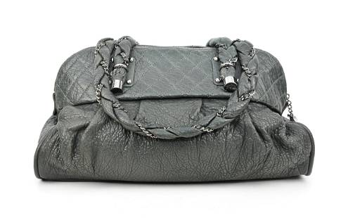Chanel Large Vintage Chain Tote in Grained Leather