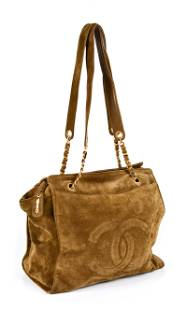 Chanel CC Shopping Tote - Interlaced Chain - Suede