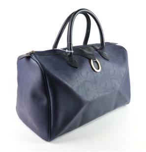 Dior Vintage Boston Bag in Leather / Diorissino Canvas