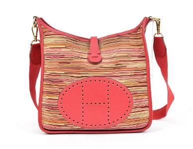 Hermes Evelyne 1 PM in Rouge Grenat  Vibrato Leather