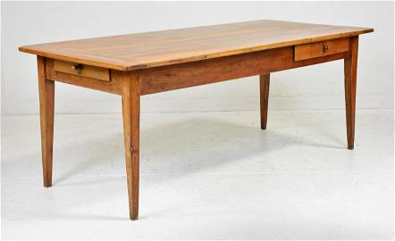 French Farmhouse Table With Drawers