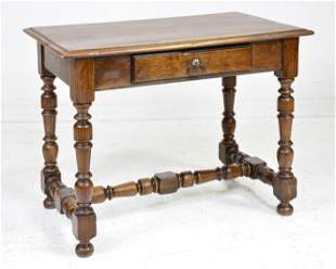 Louis XIII Style Single Drawer Hall Table
