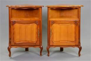 Pair Louis XV Style Corner Cupboards