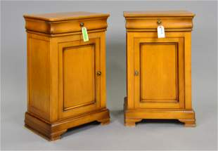Pair Louis Philippe Style Pot Cupboards