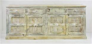 Whitewashed Reclaimed Wood Sideboard