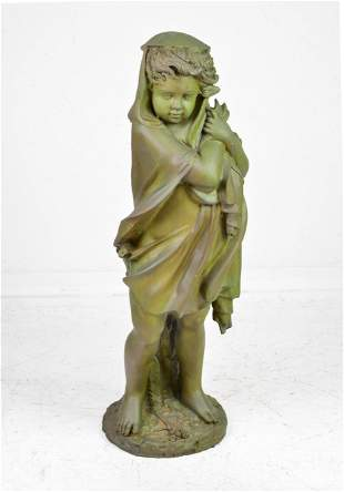Large Bronze Statue of Girl