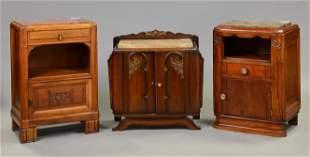 3 Deco Marble Top Pot Cupboards