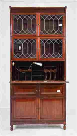 English Mahogany Stacking Bookcase / Secretary