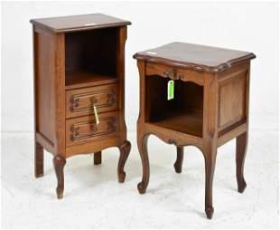 2 Small Oak Nightstands / Pot Cupboards
