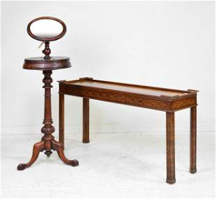 Gentlemans Valet / Shaving Mirror & Sofa Table