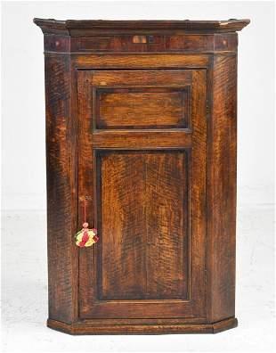 British Oak / Mahogany Corner Cabinet