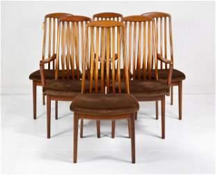 6 Danish Modern Style Mid Century Dining Chairs