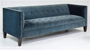 Blue Modern Button Tufted Sofa