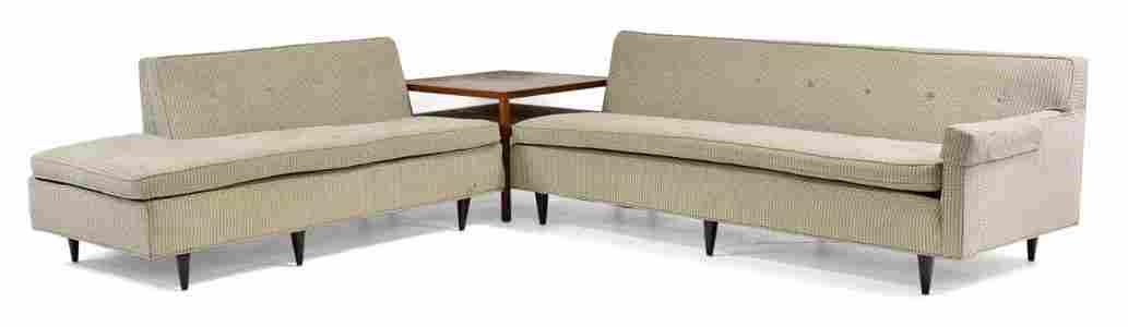 Mid Century Corner Sofa by Widdicomb & Table