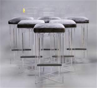 6 Modern Acrylic Barstools from IMAX of Oklahoma