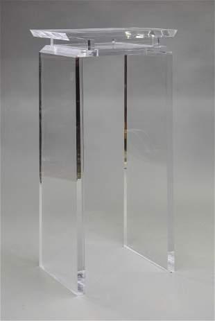 "Acrylic ""Hilton"" Pedestal"