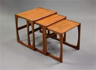Mid Century Modern Quadrille Nesting Tables #1