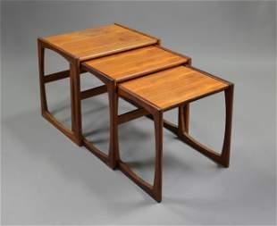 Mid Century Modern Quadrille Nesting Tables #2