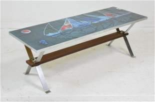 European Mid Century Modern Tile Coffee Table