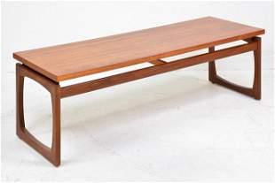 Teak mid century modern Quadrille coffee table