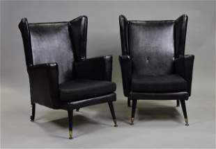 Pair of Mid Century Modern European Lounge Chairs
