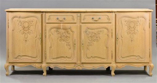 Louis XV Style Bleached Oak Carved Server #2