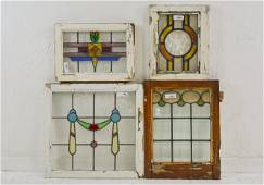 4 Assorted British Stained Glass Windows