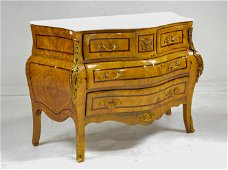 White Marble Top 4 Drawer Commode / Chest #2