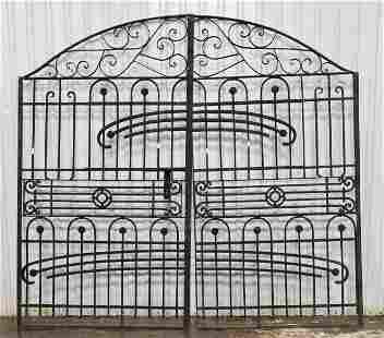 Black Iron Round Top Tall Gates