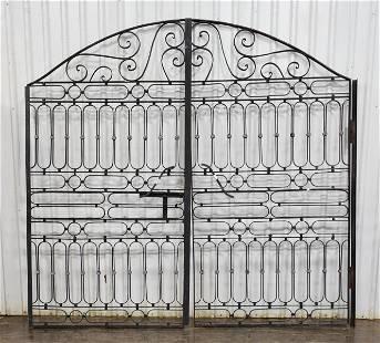 Black Iron Round Top Gates