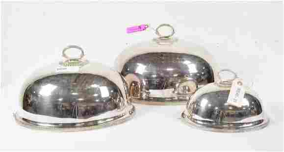 Silver Plated Meat Domes x 3