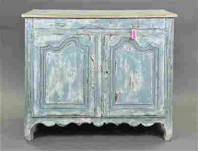 French Dry Scraped Painted Server