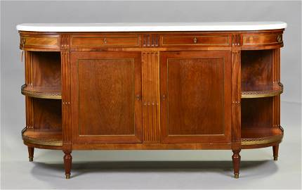 Louis XVI Style curve sided  Sideboard Marble