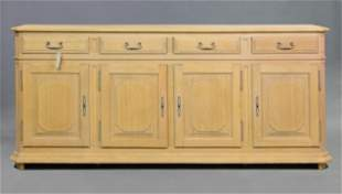 Louis Philippe Style Bleached Oak Server / Sideboard